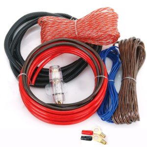 WORLDTECH Branded Car 4/2 Channels Amplifier Wiring Kit, 8 GA Best Sound Quality