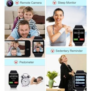 A1 Smartwatch Phone For Android Bluetooth Wrist Watch, Camera, Pedometer With Sim Card & Memory Slot