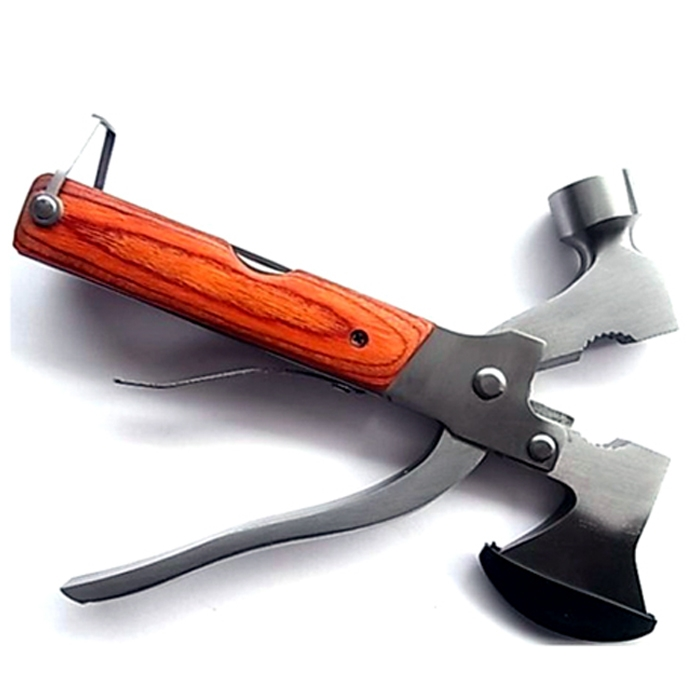 Multi-Function AXE Hammer Saw Pliers Knife Screwdriver Household Outdoor Survival Camping Tool With Carry Case