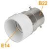 B22 Male to E14 Female Bulb, LED, Halogen, CFL Light Base Bulb Lamp Adapter Converter Socket Holder