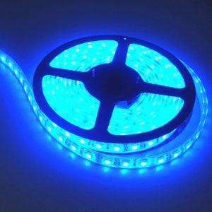 Blue 5 Meter SMD 3528 LED Flexible Strip Tape 300 LED Light For Home Decor, Automobile, Indoor & Outdoor Lighting Rope + Free 12 Volt DC LED Driver