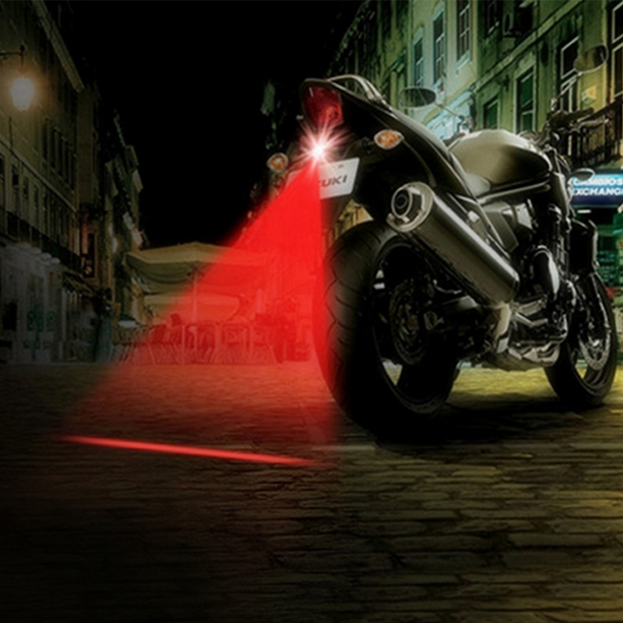 Universal Car/ Bike Red LED DRL Laser Fog Light, Multi-Purpose Safety/ Warning Laser Tail Light