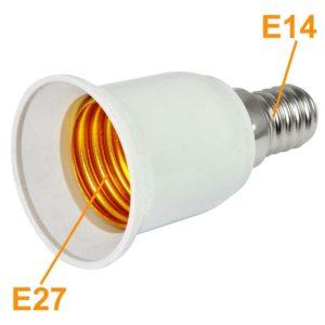 E14 Male to E27 Female Bulb, LED, Halogen, CFL Light Base Bulb Lamp Adapter Converter Socket Holder
