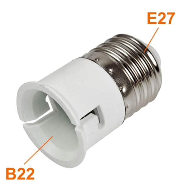 E27 Male to B22 Female Bulb, LED, Halogen, CFL Light Base Bulb Lamp Adapter Converter Socket Holder