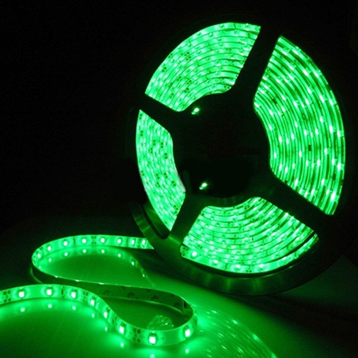 Green 5 Meter SMD 3528 LED Flexible Strip Tape 300 LED Light For Home Decor, Automobile, Indoor & Outdoor Lighting Rope + Free 12 Volt DC LED Driver