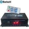 Mini Stereo Audio Amplifier Bluetooth, MP3 Player Decoder Module, SD Card, USB, FM Radio, Aux In With Fully Remote Control