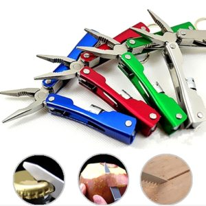 9 in 1 Micro Pliers Multi Function Pliers Tool Set With LED Flashlight & Nylon Pouch