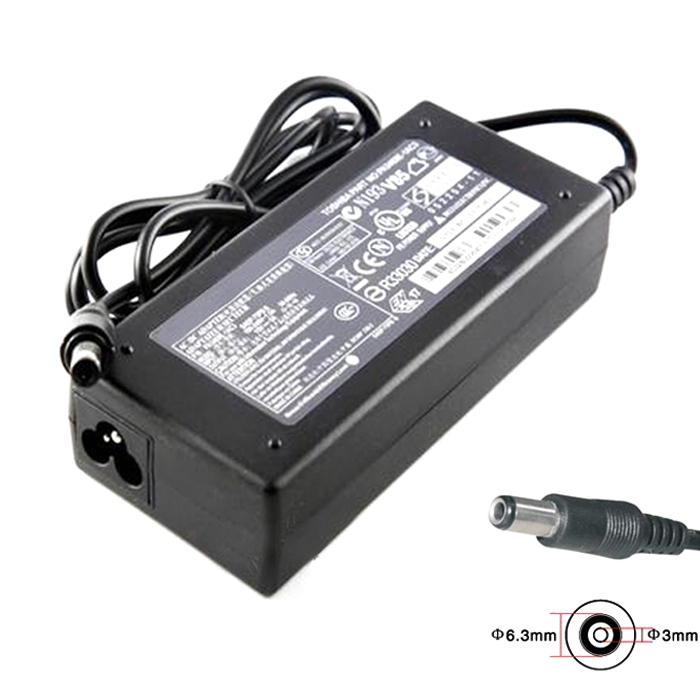 15V 5A 75W Power Adapter Laptop Charger Replacement For Toshiba With 63 X 3 Mm Pin Connector