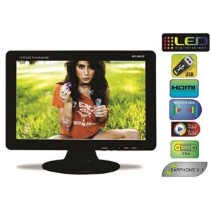 """WORLDTECH LED TV 13.5"""" USB/ Mini HDMI, Memory Card/ Camera/ AV IN-OUT, Monitor LCD Screen For Automobile, CCTV Screen & Home"""