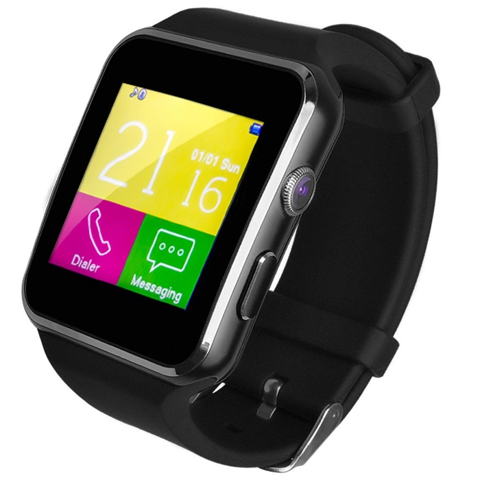 X6 Curved Bluetooth V4.0 Smartwatch Phones For Android, Bluetooth Wrist Watch, Camera, Pedometer With Sim Card & Memory Slot
