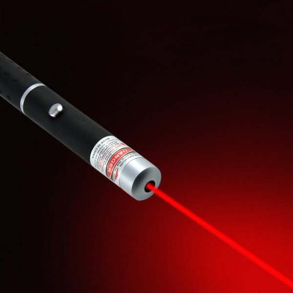 50mW High Power Beam Red Laser Pointer Pen Red Laser Pen + 2 Battery Free