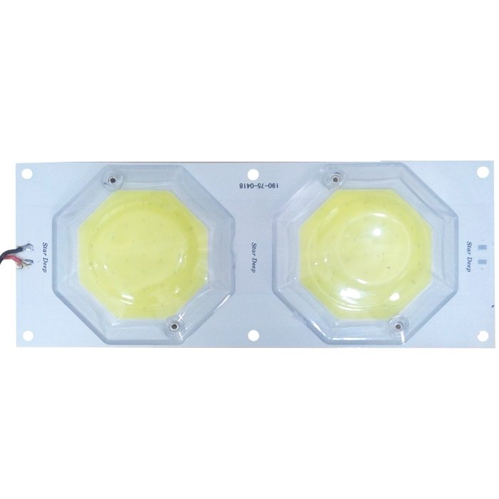 12 Volt DC 72 COB 36 Watt Dual Chip LED SMD Cool White Light With On/ Off Switch & Glass Protection Cover