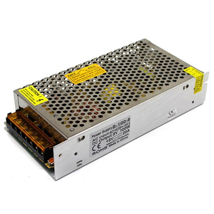 5 Volt 20 Amp, 100W SMPS/ 5V 20A Power Supply, SMPS, Driver, Switch Mode  Power Supply, Input 110~240V AC (1 Year Warranty)