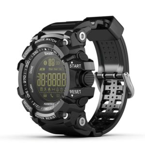 EX16 Sport Smart Watch, Bluetooth V4.0 IP67 Waterproof Sports Wristwatch Pedometer Call SMS Reminder Remote Control Luminous Dial Watch For Android IOS