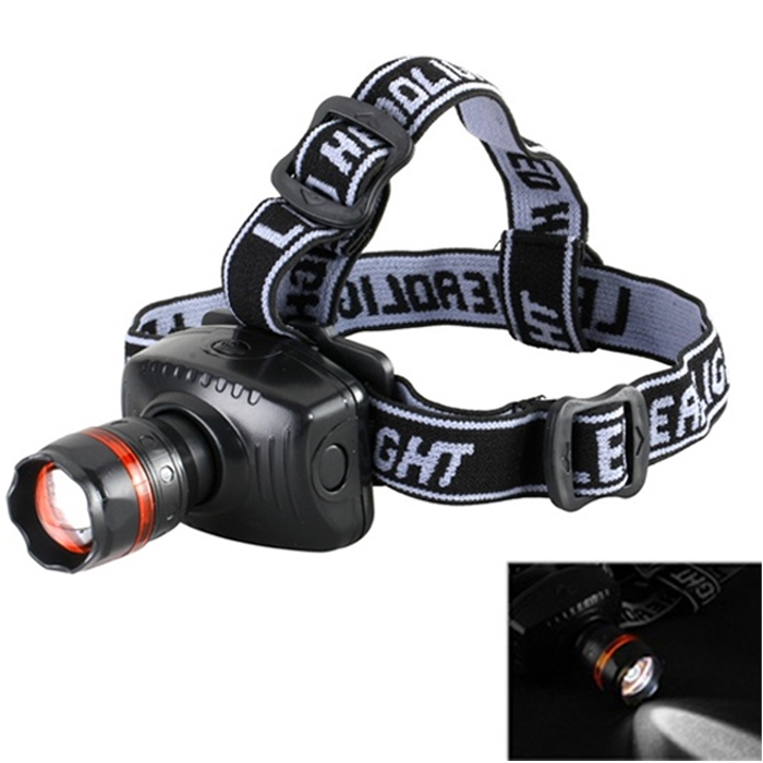 New CREE LED High Power Zoom Headlamp Outdoor Night Head Light, Torch Black 6611