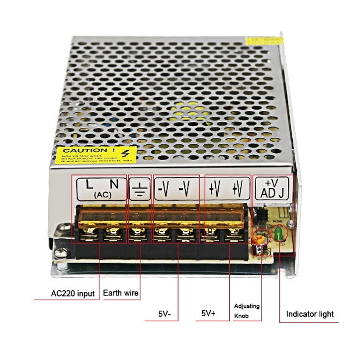 5 Volt 10 Amp, 50W SMPS/ 5V 10A Power Supply, SMPS, Driver, Switch Mode Power Supply, Input 110~240V AC Output 5 Volt 10 Amp DC Power