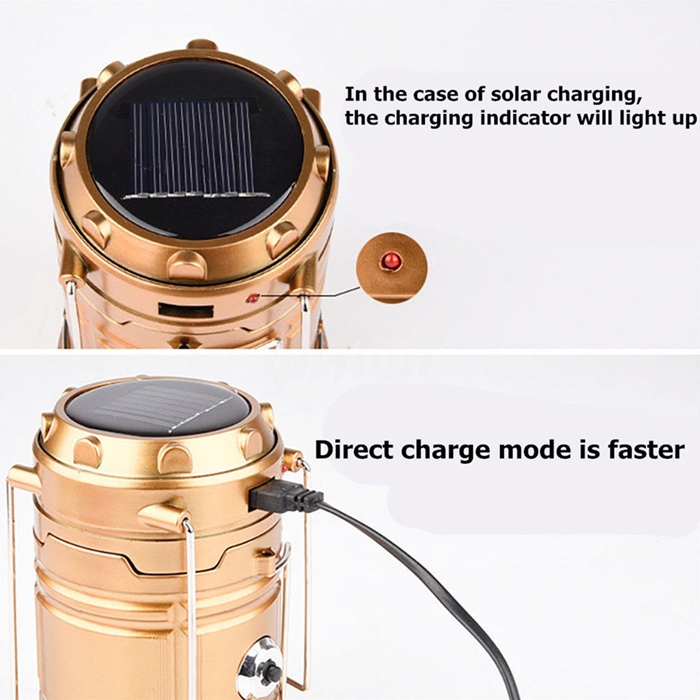 Solar Rechargeable Led Flashlight Camping Tent Light Torch Lantern Lamp 2 Source