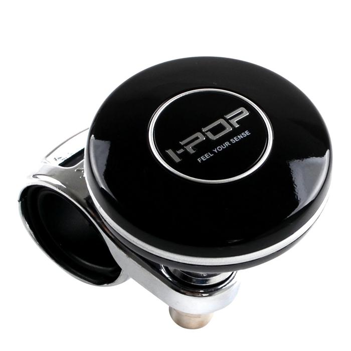 Car Power Steering Wheel Platinum Knob Spinner I-Pop Black