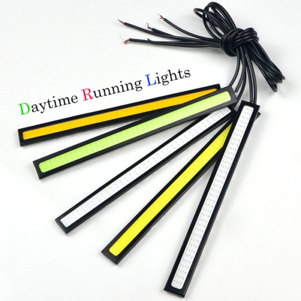 Daytime Running Lights LED DRL Universal COB Waterproof 9W LED 12V, Fog Light 17 CM - 2 Pcs