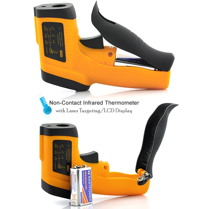HTC Non-Contact Infrared Thermometer With Laser Targeting & LCD Display, -50 ~ 550°C / -58~1022°F