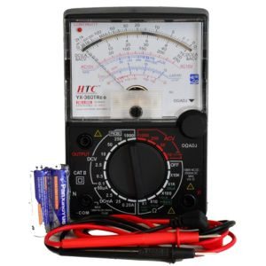 HTC Instrument YX-360 TRe-B Analog Multimeter with Mirror Scale/ Buzzer & LED/ Fuse Diode Protection/ Transistor/ 19-Range AC & DC