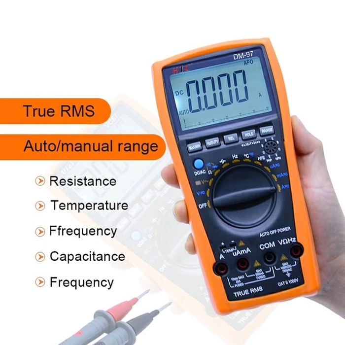 HTC Instrument DM-97 3¾ Digital Multimeter 4000 Counts/ Capacitance/ Frequency/ Temperature/ AC Voltage Range 0.1mV to 750V