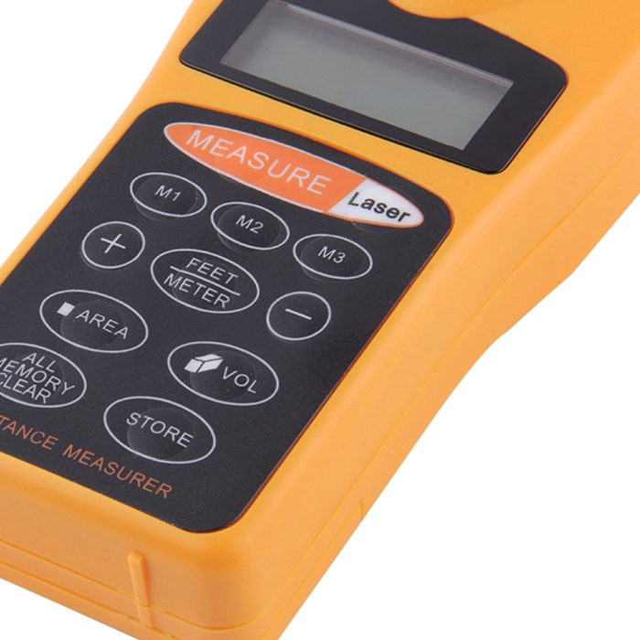 HTC Ultrasonic Digital Distance Meter Laser Point LCD screen with LED Back-light (18M/ 60 Feet) Laser Pointer Length Measuring Tool, UDM-01