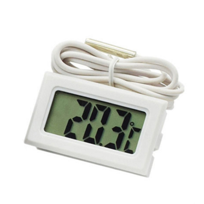 Mini 1.6″ LCD Digital Thermometer/ Temperature Meter for Refrigerator/ Aquarium with Sensor Probe
