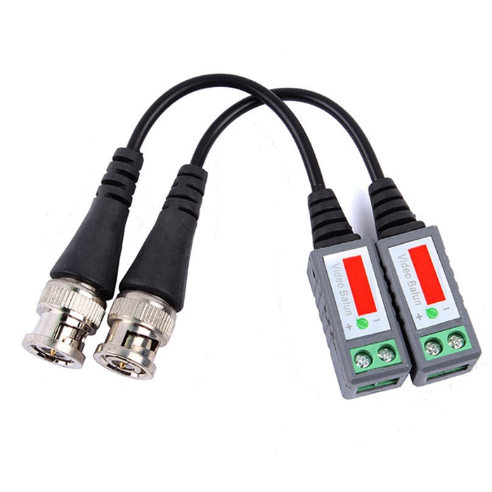 2 Pcs Anti-Interference UTP 1 Channel Passive Video Balun Connector, Video Balun for Coax to Camera CCTV
