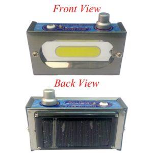Super Bright 4 Watt COB Light, Rechargeable Emergency Light, Solar & Battery Powered with Adjustable Brightness Light Knob