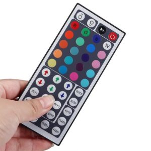 DC 12-24V 24A IR Led Controller with 44 Key Remote Control for 2835/ 5050 RGB LED Strip Auto Memorizing Function