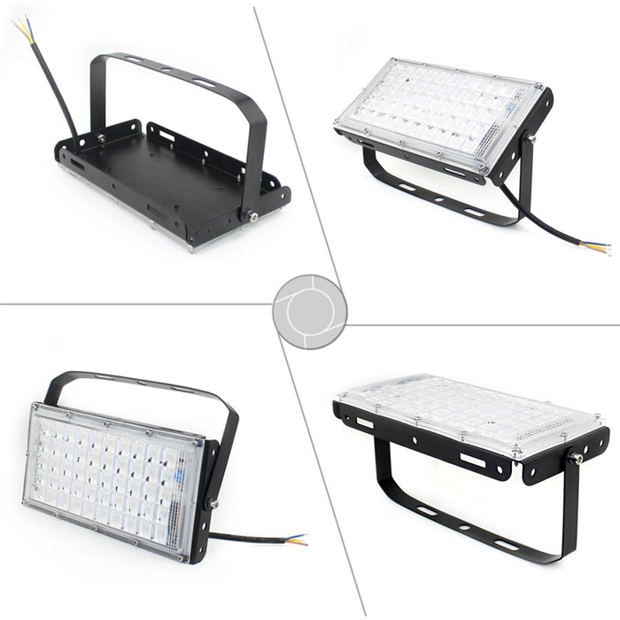 Waterproof Ultra Slim Super Bright 50W IP66 LED Flood Light, 6500K Mordern DIY SMD 5730 50 Watt Square Flood Light, AC 180-240V Flood Light For Indoor & Outdoor Use