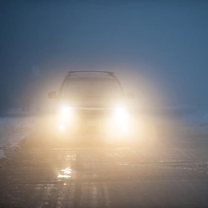 Round 9 LED Light/ FOG Light/ Spot Light/ DRL Light Lamp for Bikes & Cars, 1 Pair + Free ON/OFF Switch
