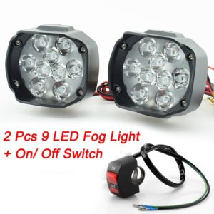 9 Led Fog Light Waterproof Spot Beam Bulb Led 15 W Spotlights White Work Selon Light With Switch for Motorcycle and Cars