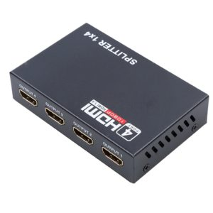 Ultra HD HDMI Splitter 1.4V, 1 Input 4 Output HDMI Port Splitter, Support 4k/ 3D/ 1080P Video, HDMI Switcher Repeater Output Amplifier