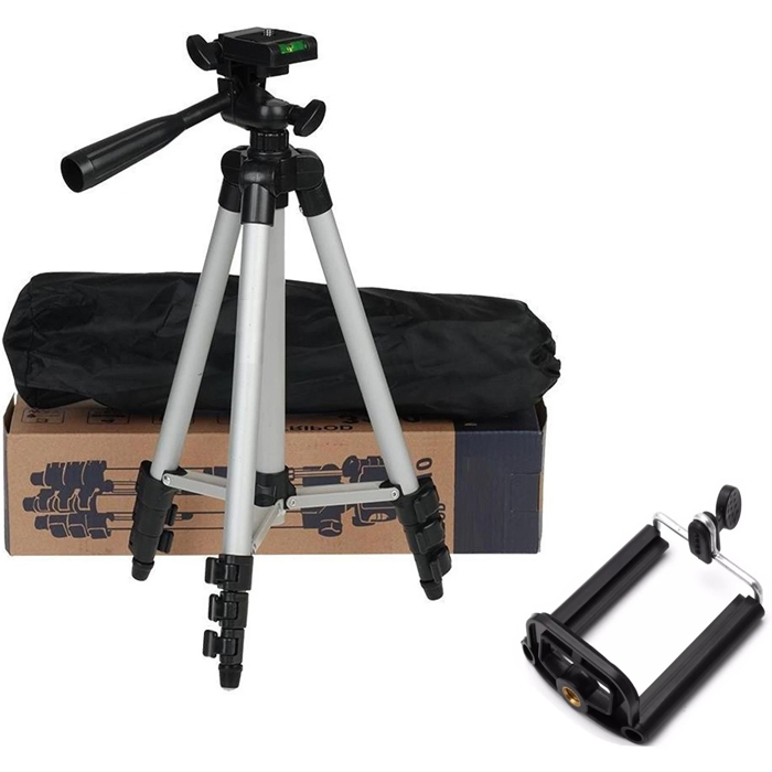 Professional 41 Inch Aluminum Alloy Tripod for Digital Camera/ Mobile, 3110 Tripod Card Machine Stand DV Tripod Mobile Phone Selfie Stand