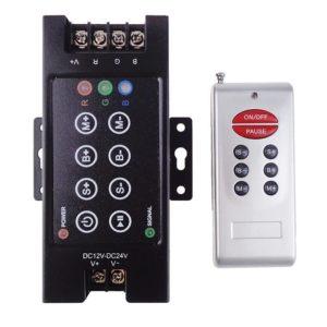 RF 8 Key Remote LED RGB Controller 30A DC 12V-24V 360W with Dimming for 5050 3528 RGB Led Strip