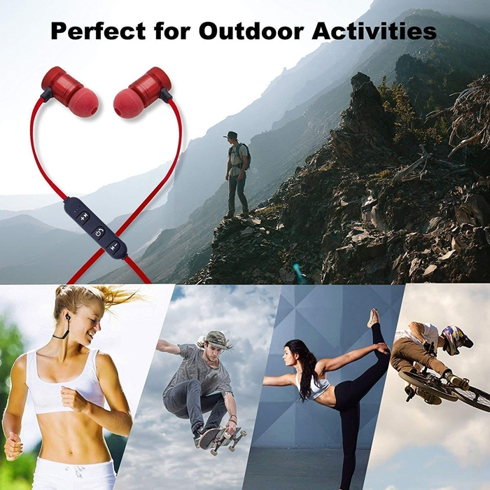 Sport Magnetic Bluetooth 4.1 in-Ear Noise Isolating Sport Earbuds/ Earphones/ Headphones with Mic and Controller, Sweatproof, Designed for Running, Jogging and Gym