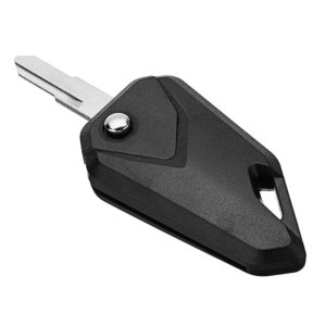 Universal Black Motorcycle Blank Key, Flip Key Conversion Kit, Folding Flip Key, Uncut Blade Blank Keychain, Blank Key for Motorcycle/ Bike/ Royal Enfield/ Scooter