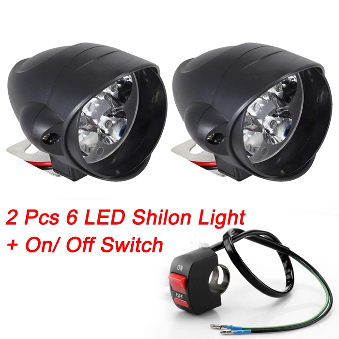 100% Original 6 Led Shilon Fog Light, Waterproof Rocket Headlight Driving Spotlights Led Bulb 10W For Motorcycle And Cars