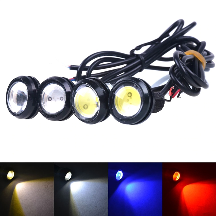 2x High Power Dual Light Mode LED Eagle Eye Bumper DRL Daytime Running Backup Fog Tail Light Universal Motorcycle Car