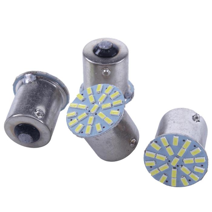 22 SMD LED Light Bulb Indicator/ Tail Break Stop/ Turn Signal Light, DC 12V LED Light For Car & Bikes, BAY15s LED Bulb