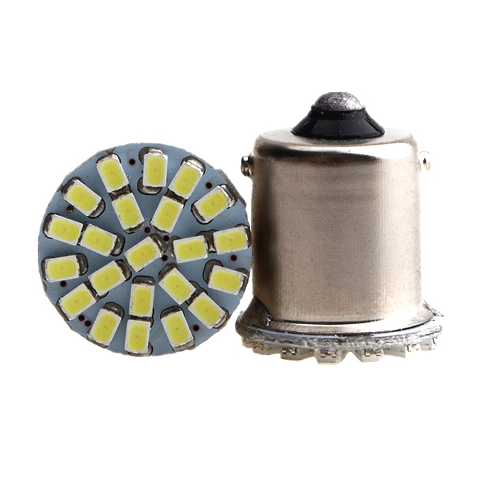 22 SMD LED Light Bulb Indicator/ Tail Break Stop/ Turn Signal Light, DC 12V LED Light For Car & Bikes, BAY15s LED Bulb