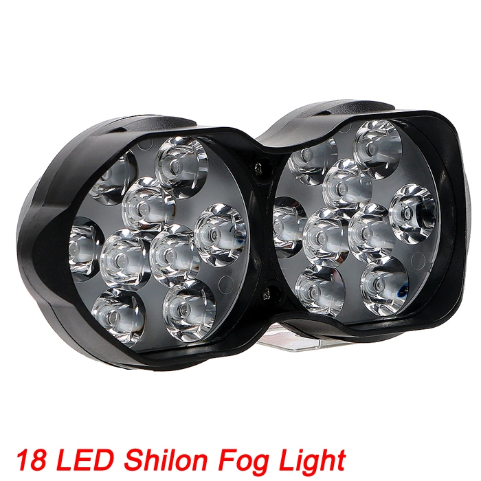 3 Light Mode 18 LED Headlight Driving Fog Spot Light Lamp Waterproof 30 W Shilon Light For Motorcycle And Cars