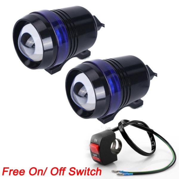 U3 Projector Lamp CREE LED 3 Mode Light Headlight Driving Fog Spot Lamp For Royal Enfield & All Bikes