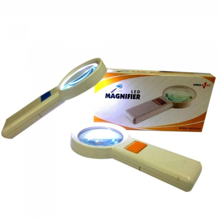 3x Hand Held Magnifying Glass With Led Light for Jewelry, Reading, Camping, Travel, Coins, Seniors, Geology