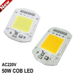 AC 220V 50W High Power LED COB Chip with Smart IC Driver, Integrated SMD LED COB Light Source For DIY Spotlight & Flood Light