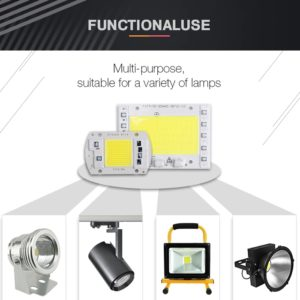 AC 220V 50W High Power LED COB Chip with Smart IC Driver, Integrated SMD LED COB Light Source For DIY Spotlight & Flood Light
