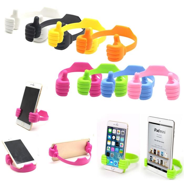 Flexible Thumb OK Designed Mobile/ iphone/ Tablet, Car Desk Stand Mount, Table Top Mount Stand, Smartphones Desk Stand Mount Holder