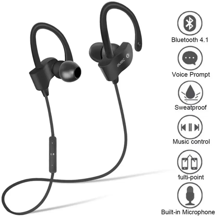 60e20c7b224 ... QC-10S JOGGER® Sports Bluetooth Headset, Rechargeable Bluetooth V 4.1  Hand-free ...